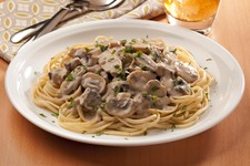 Alfredo Linguine with Mushrooms