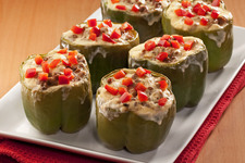 Turkey-and-Lentil Stuffed Green Peppers