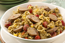 Sausage and Pesto Pasta Salad