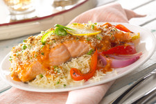 Roasted Garlic-Salmon with Vegetables