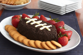 Football-Shaped Cookies and Cream Dip