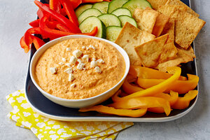Spicy Feta Dip with Roasted Red Peppers