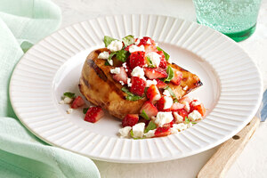 Grilled Chicken with Strawberry Salsa