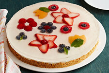 No-Bake Flower Garden Cheesecake Tart