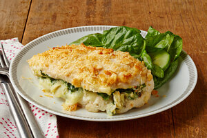 Spinach and Artichoke Stuffed Chicken Breasts