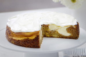 Carrot Cake-Swirl Cheesecake