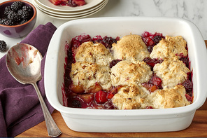 Blackberry-Plum Cobbler