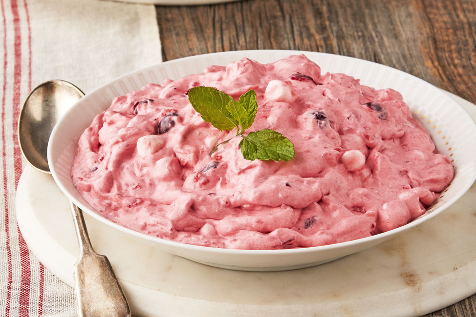 Fluffy Cran-Raspberry Salad