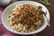 Lentils with Bacon & Rice