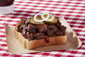 Chopped BBQ Beef Sandwich