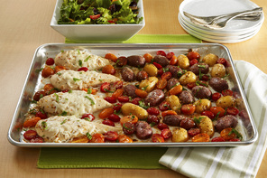Bruschetta Chicken with Roasted Potatoes