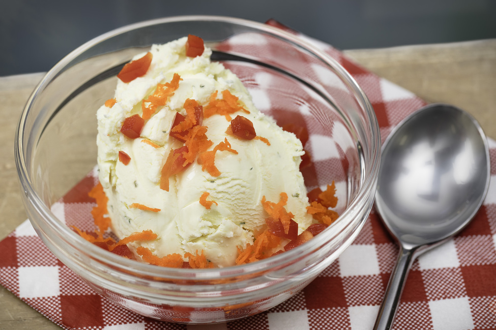 Ranch Ice Cream with Vegetable 'Sprinkles'