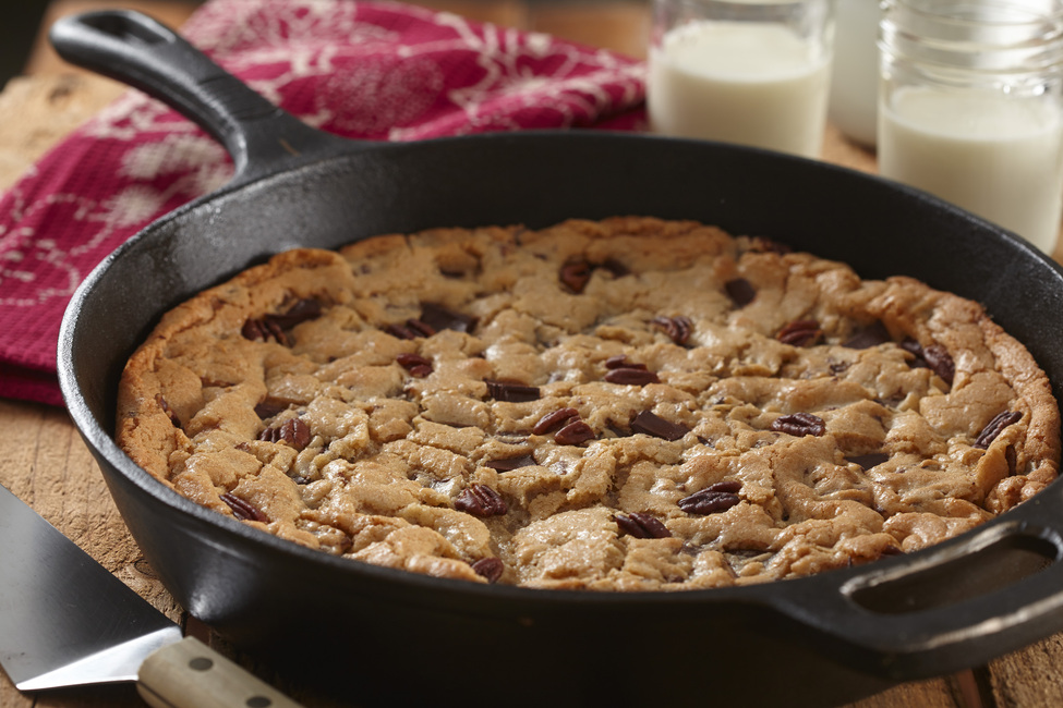 Chocolate Chunk Cast-Iron Skillet Cookie