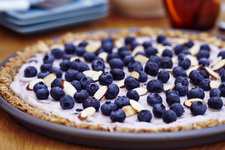 Blueberry-Almond Granola Morning Pizza