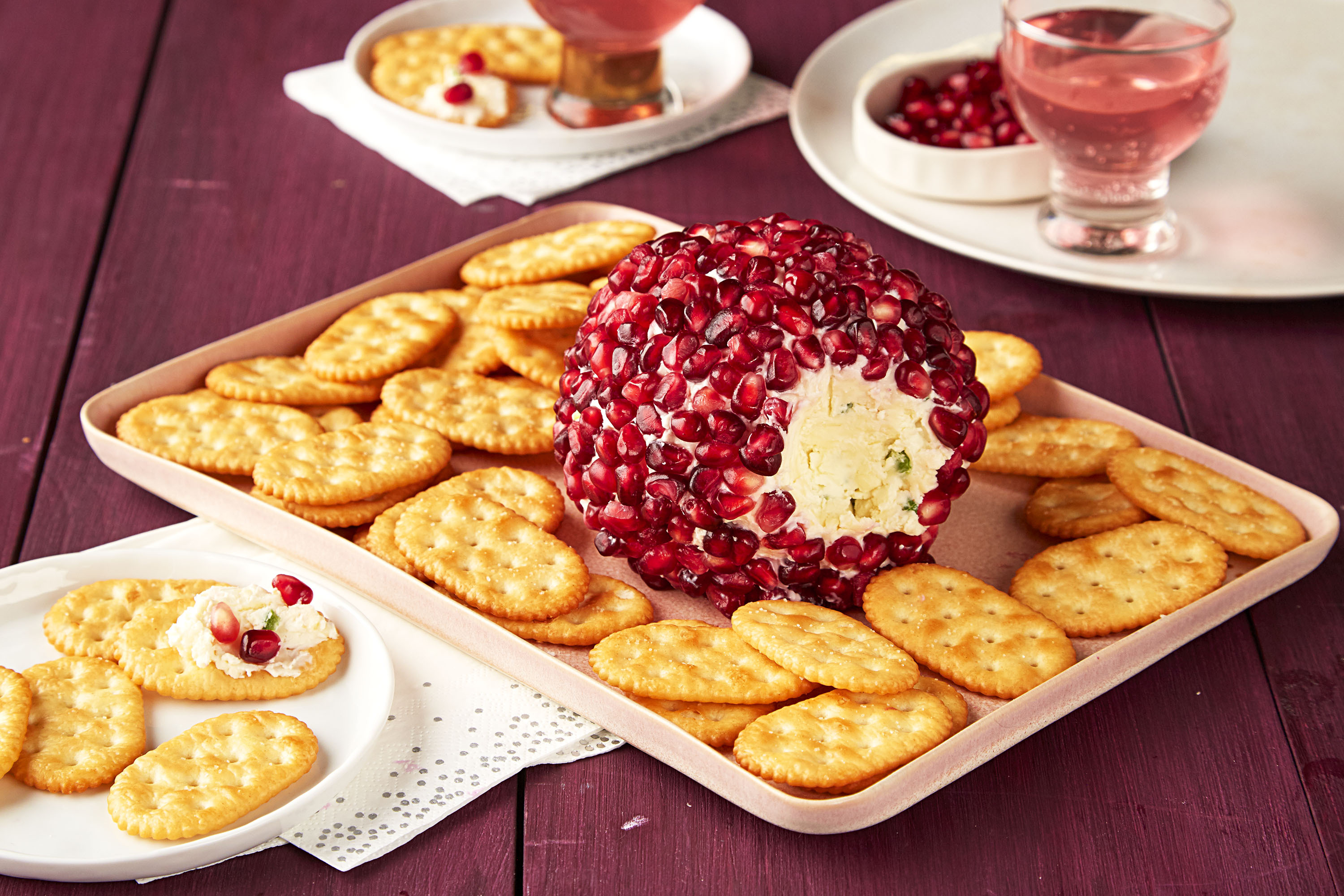 Savory Pomegranate Cheese Ball