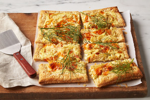 Roasted Fennel & Carrot Tart