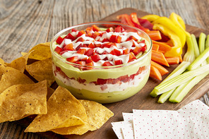 Layered Avocado Ranch Dip