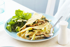 Chicken and Mushroom Crêpes