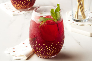 Cherry Pomegranate-Ginger Fizz