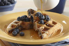 Pecan-Blueberry Waffles
