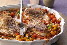 Chicken with Garden Vegetable Ratatouille