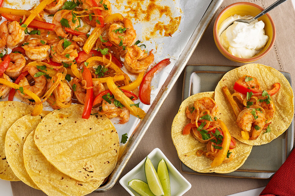 Sheet-Pan Shrimp Fajitas