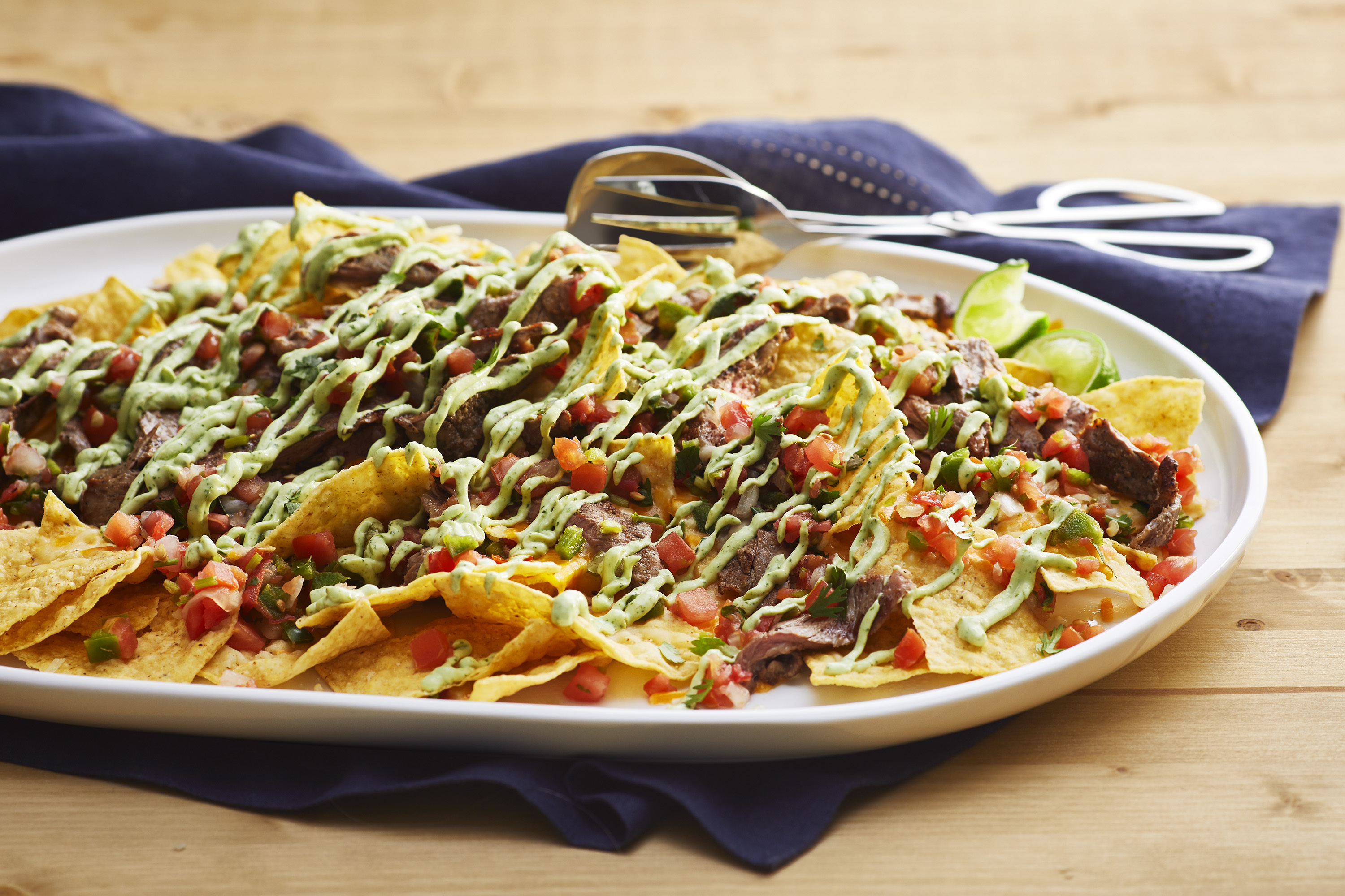 PHILLY Avocado Crema Steak Nachos