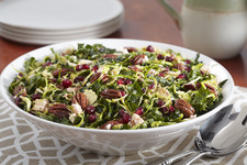 Kale Pomegranate Salad with Pecans