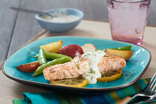 Sous Vide Salmon with Creamy Mustard Sauce