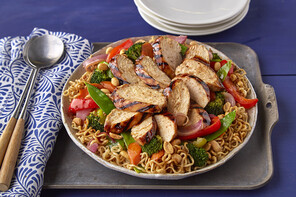 Grilled Teriyaki Chicken with Ramen Noodles