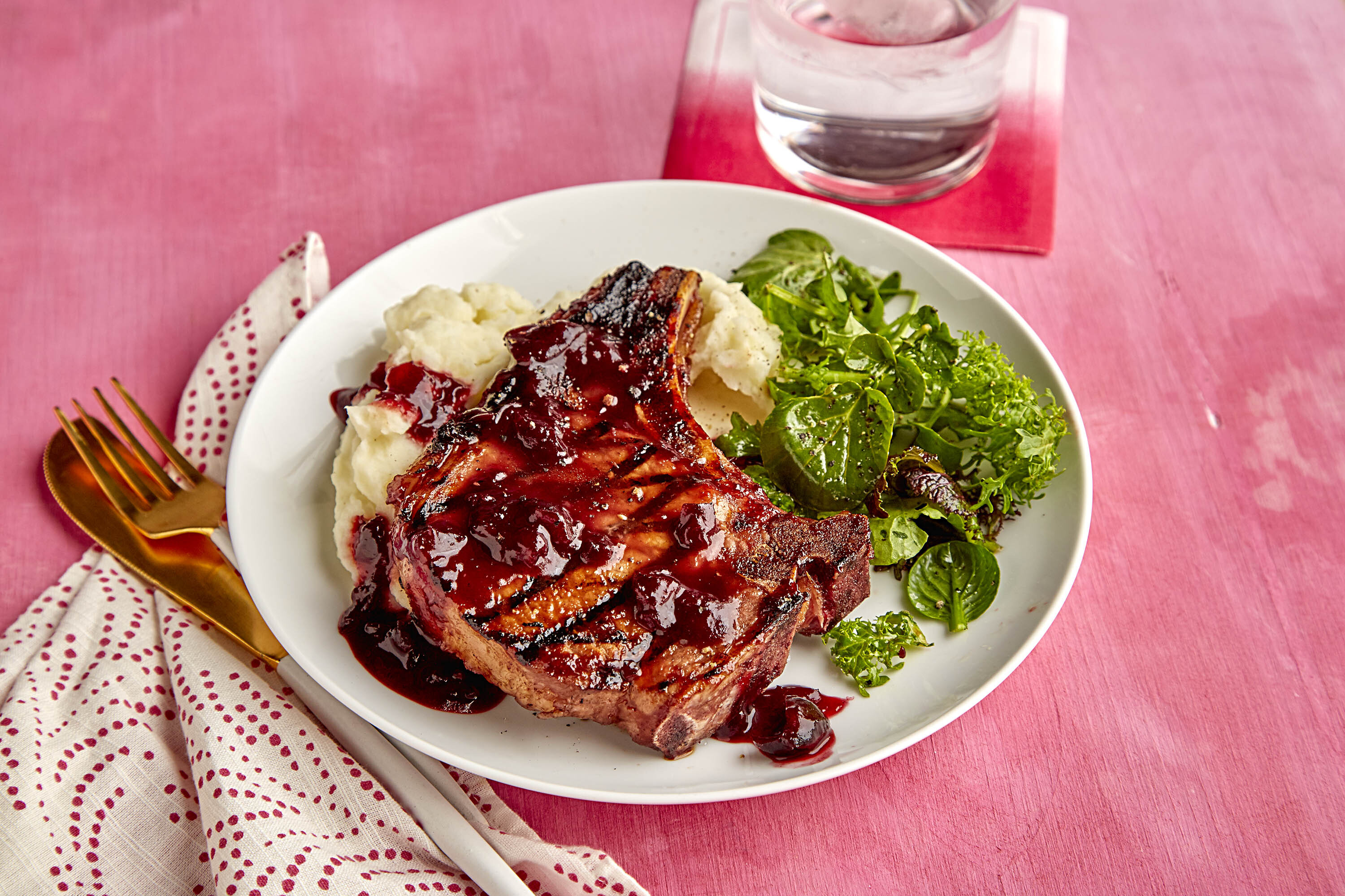 Cherry-BBQ Pork Chops