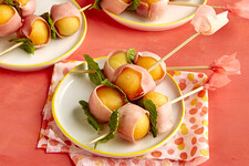 Easy Melon and 'Prosciutto' Skewers