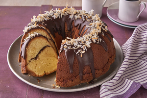 Chocolate-Coconut Bliss Cake