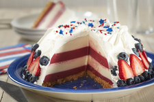 Red, White and Blue Cheesecake Dome
