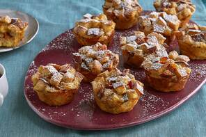 Make-Ahead French Toast-Pear Muffins