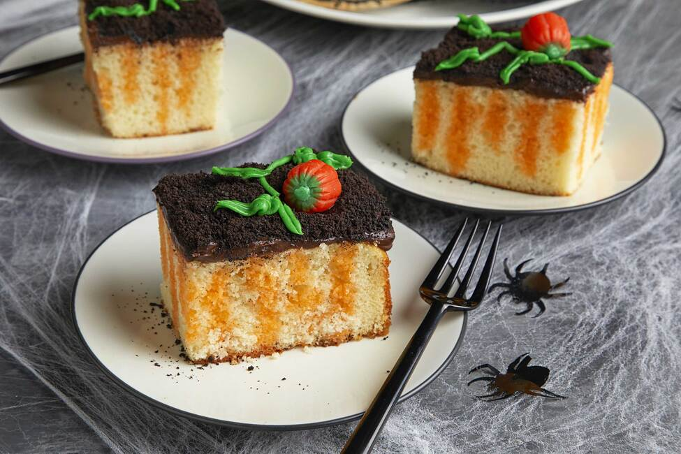 Pumpkin Patch Poke Cake