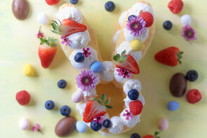 Easter Bunny Cream Tart