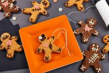 Chocolate Pumpkin Voodoo Doll Cookies
