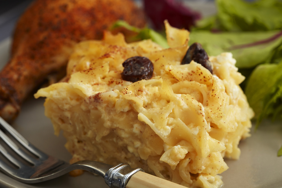 Noodle Kugel with Cherries