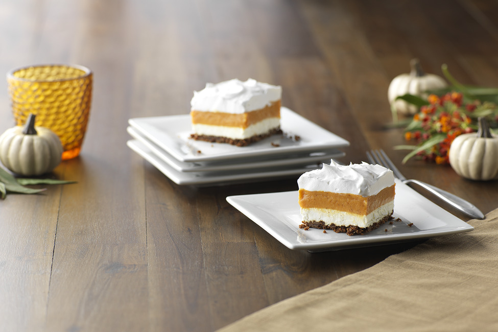 Layered Pumpkin-Gingersnap Dessert
