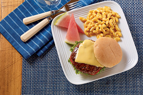 BBQ Cheeseburgers and Macaroni & Cheese