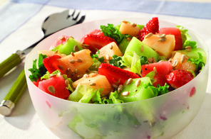 Strawberry and Melon Salad