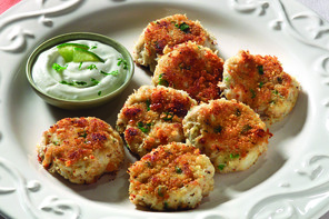 Southern-Style Crab Cakes with Cool Lime Sauce