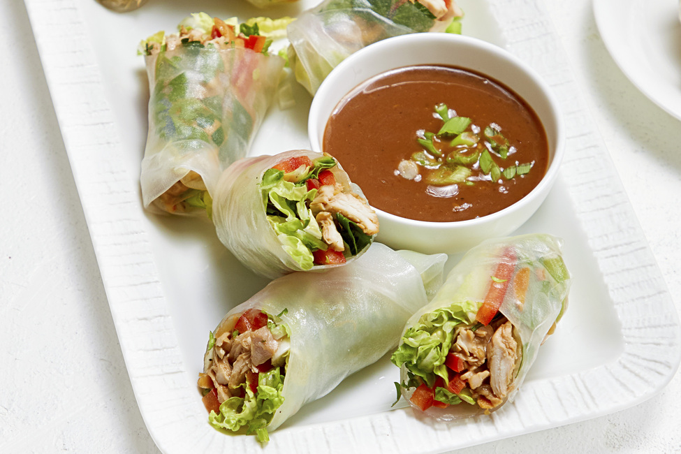 Asian Chicken Spring Rolls My Food And Family