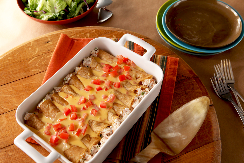 Microwave Chicken Enchiladas