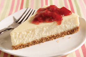 Strawberry Preserve-Topped Cheesecake