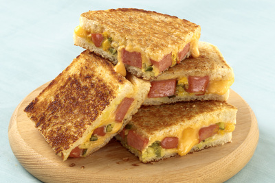 Grilled Hot Dog-Cheese Sandwich