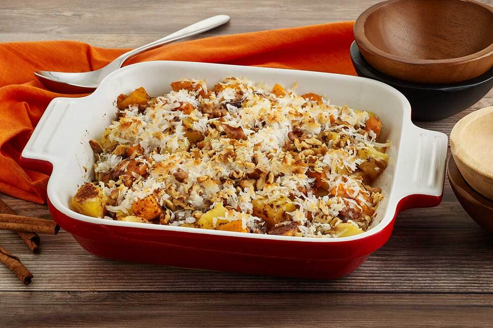 Sweet Potato, Coconut and Pineapple Casserole