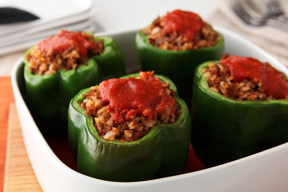 867d2e2f8dd57 Stuffed Bell Peppers - My Food and Family