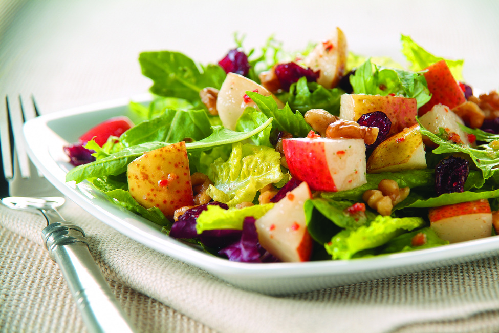 Tossed Pear and Cranberry Salad